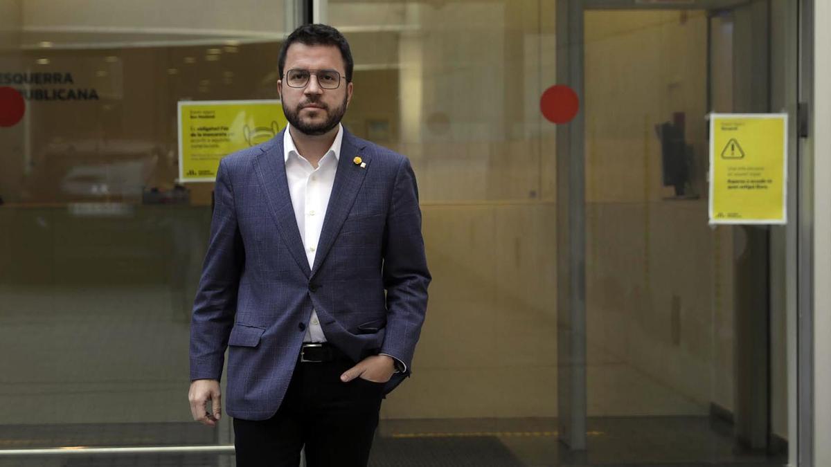 El candidato de ERC en las elecciones del 14-F, Pere Aragonès.