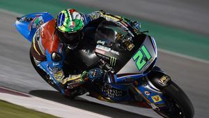 Franco Morbidelli, ganador de la carrera de Moto2 del GP de Catar de motociclismo.