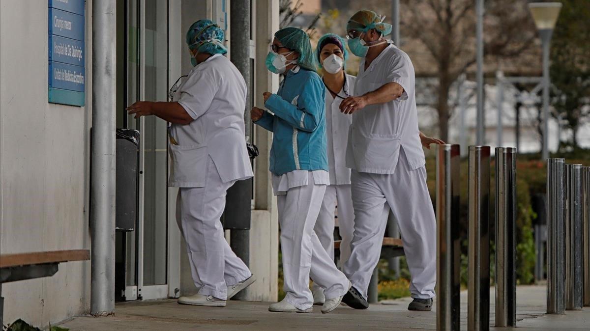 Personal del Hospital de Igualada.