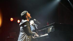 El cantante y pianista malagueñoPablo López durante unaactuación.