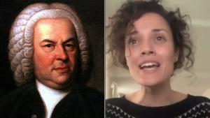 La cantante Sheila Blanco rinde homenaje a Bach en un vídeo en Twitter.