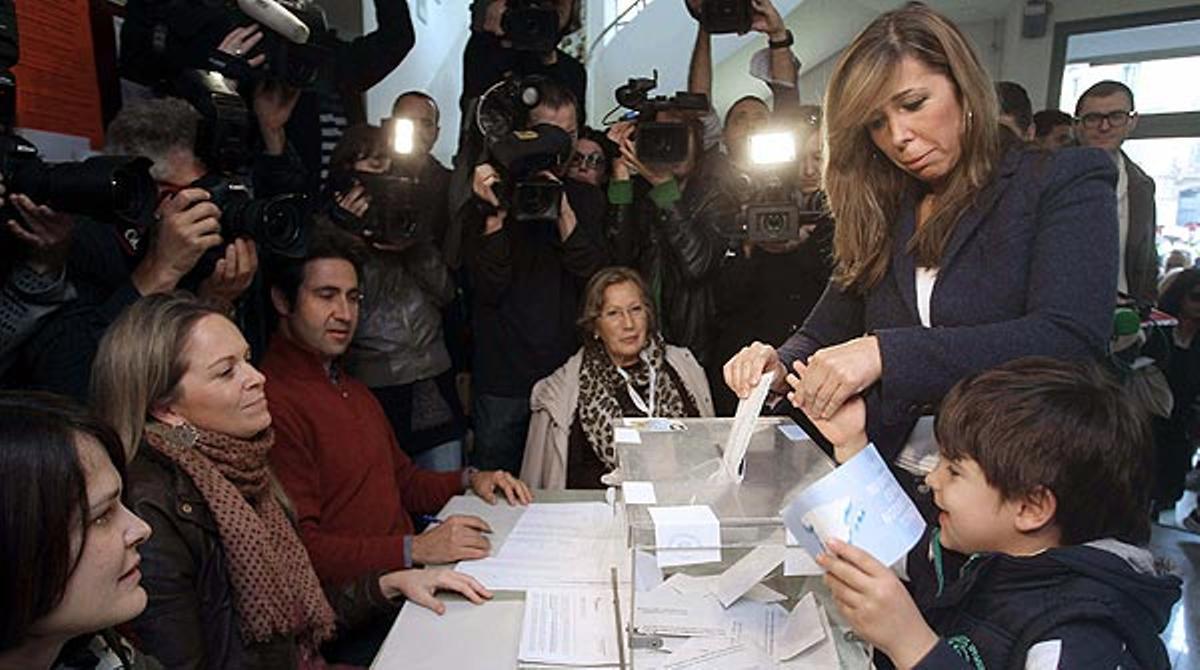 Las declaraciones de Alicia Sánchez-Camacho después de votar
