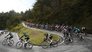 El pelotón del Giro, en la 15ª etapa.