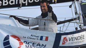 Armel Le Cléac'h , vencedor de la Vendée Globe 2017.