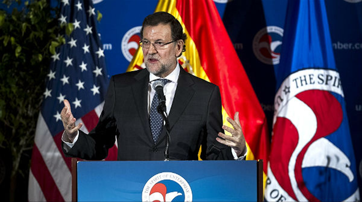 Rajoy vende España ante la Cámara de Comercio de Washington