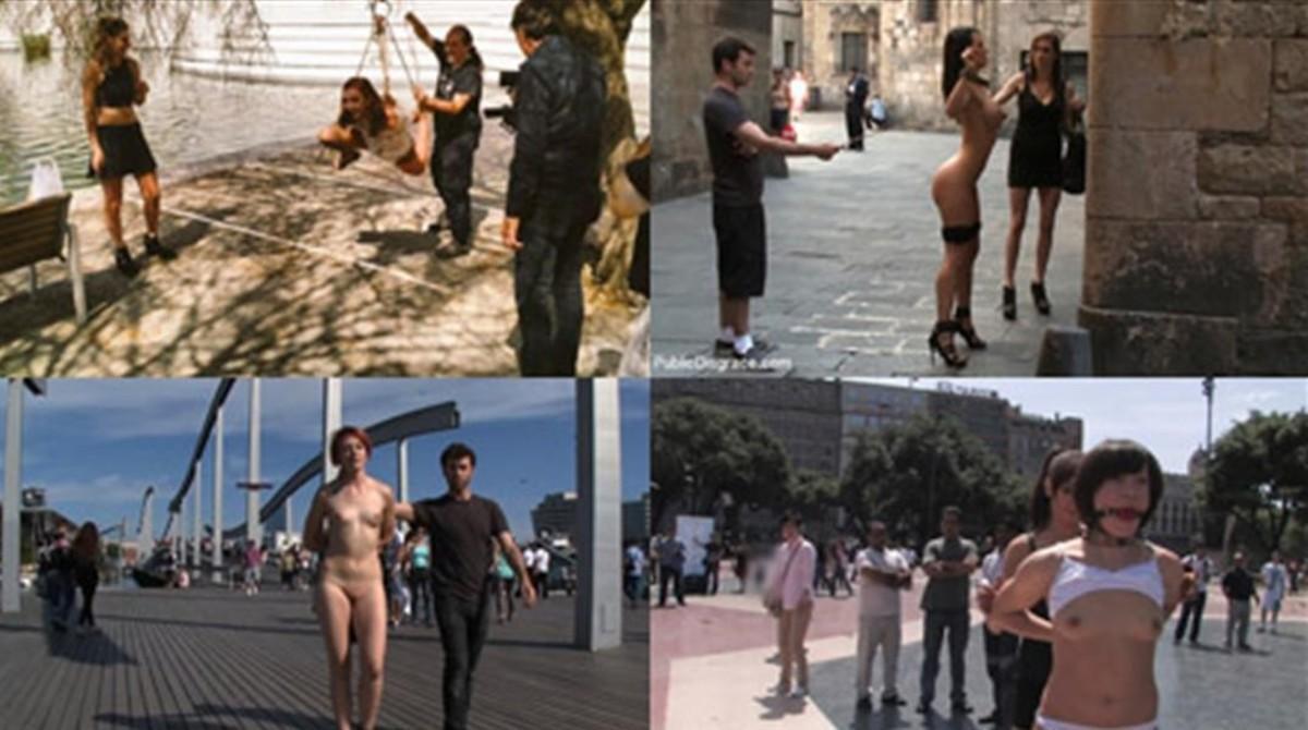 Fotos de rodajes porno en las calles de Barcelona.