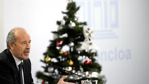 El ministro de Justicia  Juan Carlos Campo  comparece en rueda de prensa posterior al Consejo de Ministros celebrado en Moncloa  en Madrid (Espana)  a 15 de diciembre de 2020   15 DICIEMBRE 2020 MARIA JESUS MONTERO JUAN CARLOS CAMPO HACIENDA JUSTICIA GOBIERNO POLITICA ECONOMIA CONSEJO DE MINISTROS  EUROPA PRESS O CANAS POOL  15 12 2020