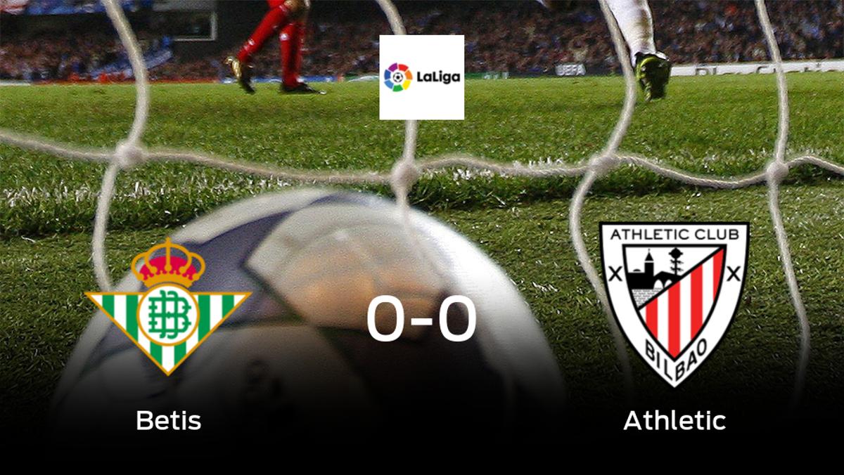 El Real Betis y el Athletic se reparten los puntos en un partido sin goles (0-0)