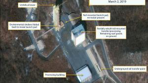 Distribución de la planta de misiles de Sohae en Corea del Norte.