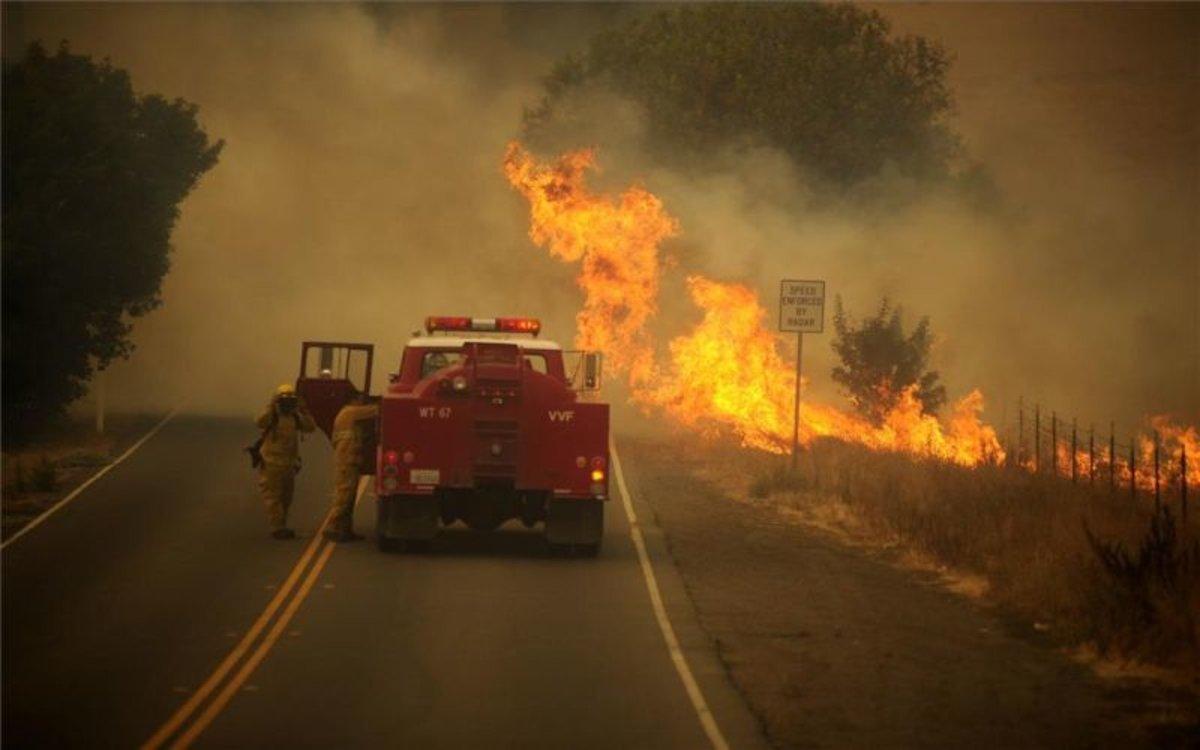 Incendios forestales en California, EEUU.