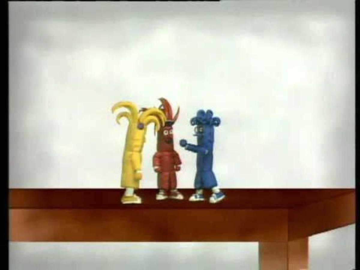 Las mascotas del 'Club Super 3' Flash, Top y Buff.