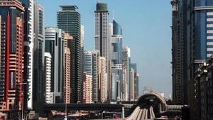 Distrito financiero de Dubái.