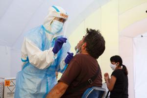 Test masivos de PCR en Sabadell, el pasado agosto.