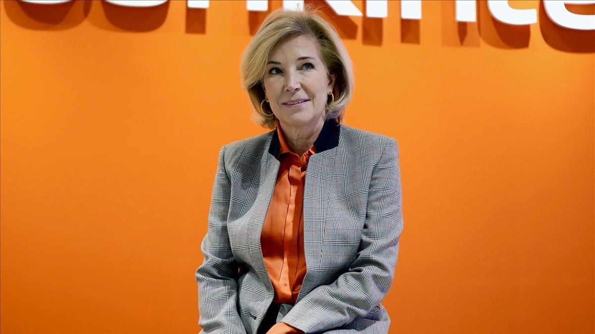 Maria Dolores Dancausa, Consejera Delegada de Bankinter, durante la presentación de los resultados del ejercicio 2019
