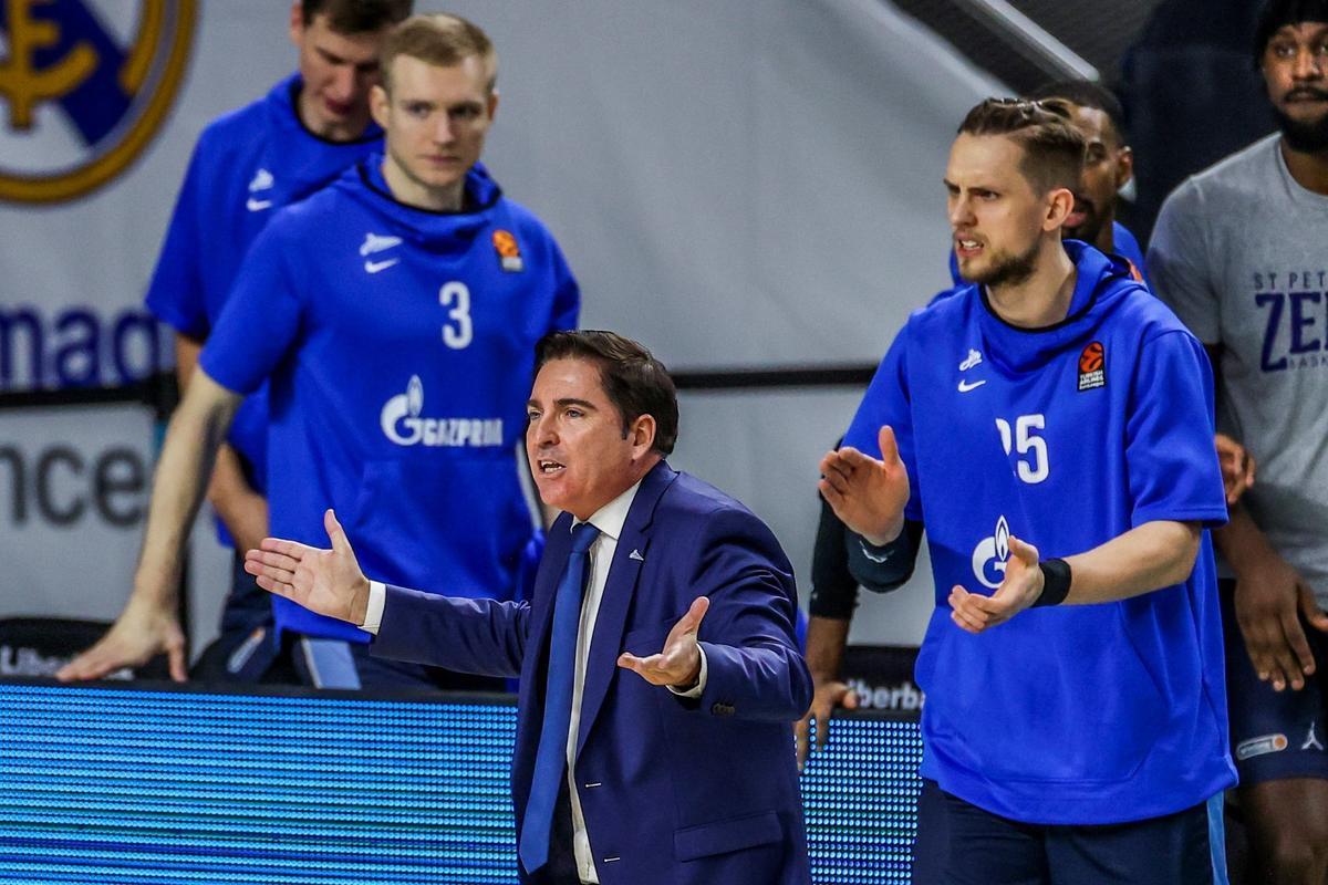 Xavi Pascual, en un reciente partido del Zenit
