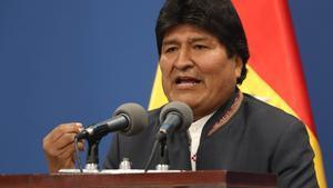 Evo Morales,el pasado 31 de octubre.