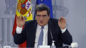El ministro de Inclusión, Seguridad Social y Migraciones, José Luis Escrivá, tras la reunión del Consejo de Ministros del 2 de febrero.