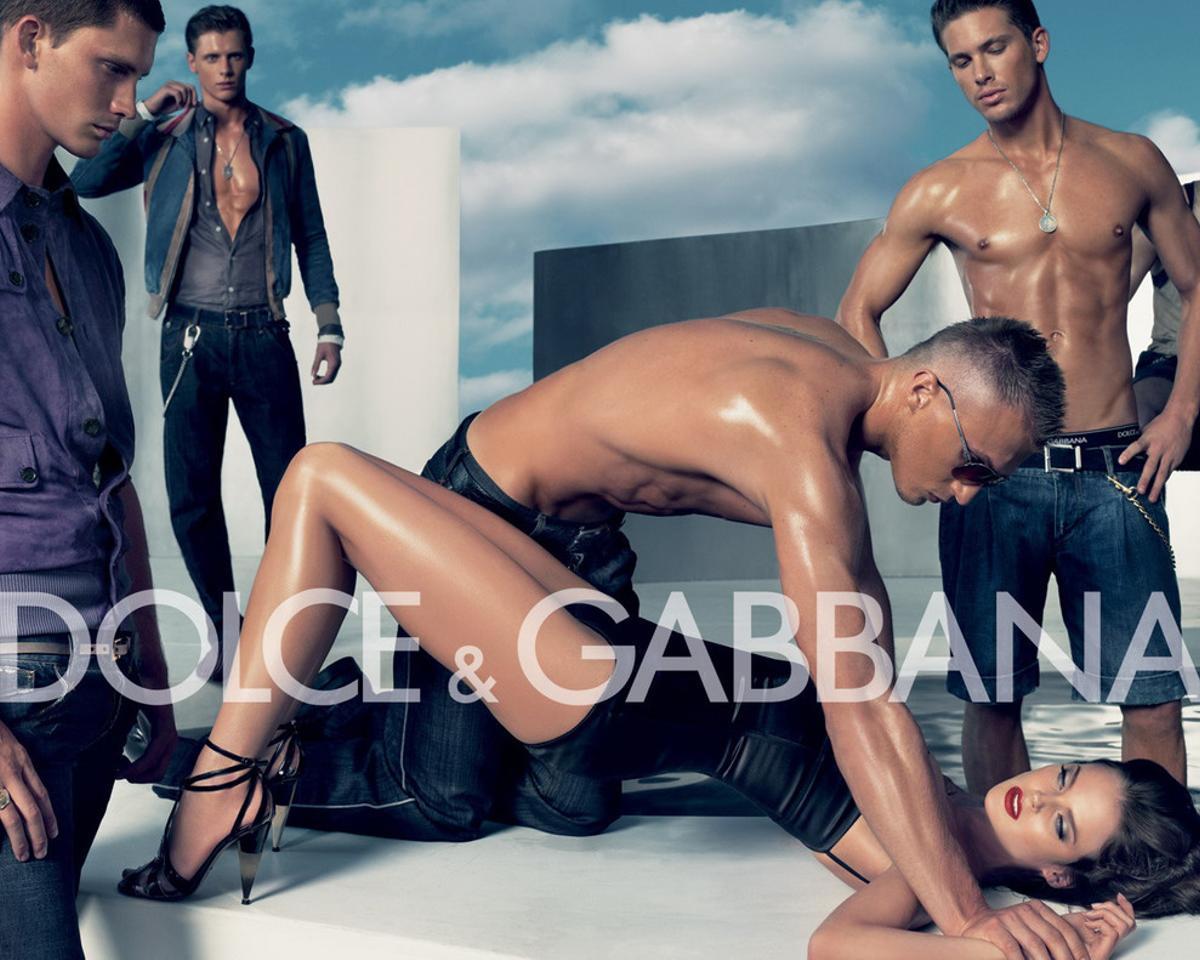 Imagen de Dolce & Gabbana que fue censurada.