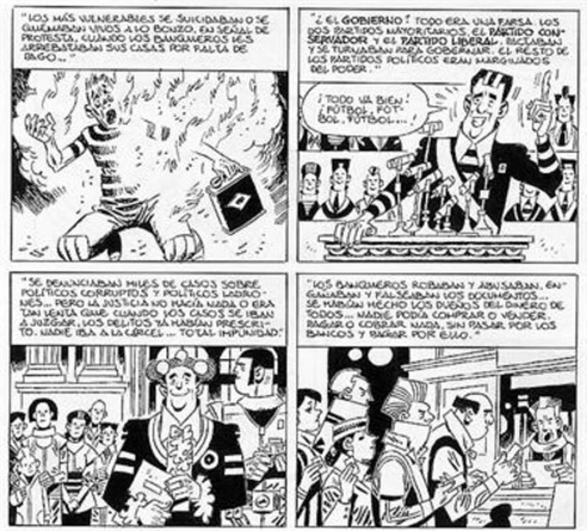 Viñetas de 'La peste escarlata', de Carlos Giménez