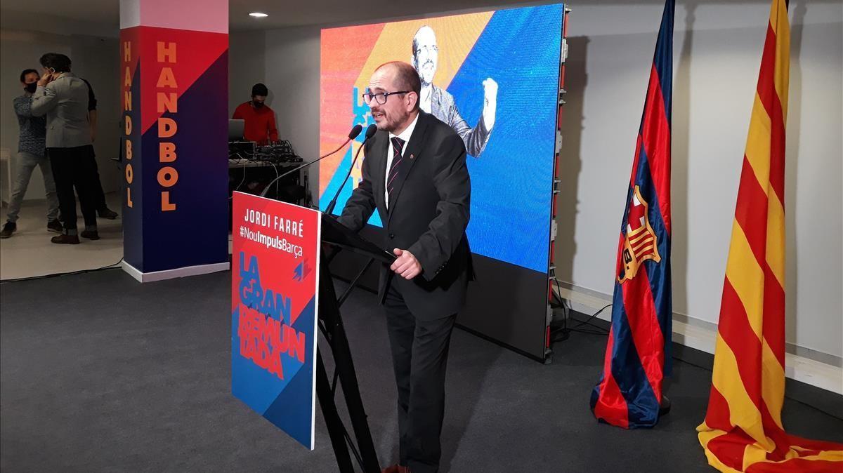 Jordi Farré inaugura su sede electoral, situada en la calle Numancia de Barcelona.