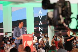 El presidente del Gobierno, Pedro Sánchez, en un acto en Jaén este sábado