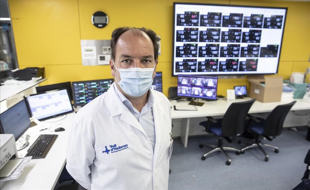 El doctor Ricard Ferrer, jefe del servicio de medicina intensiva del hospital Vall d'Hebron y presidente de la sociedad medica Semicyuc.