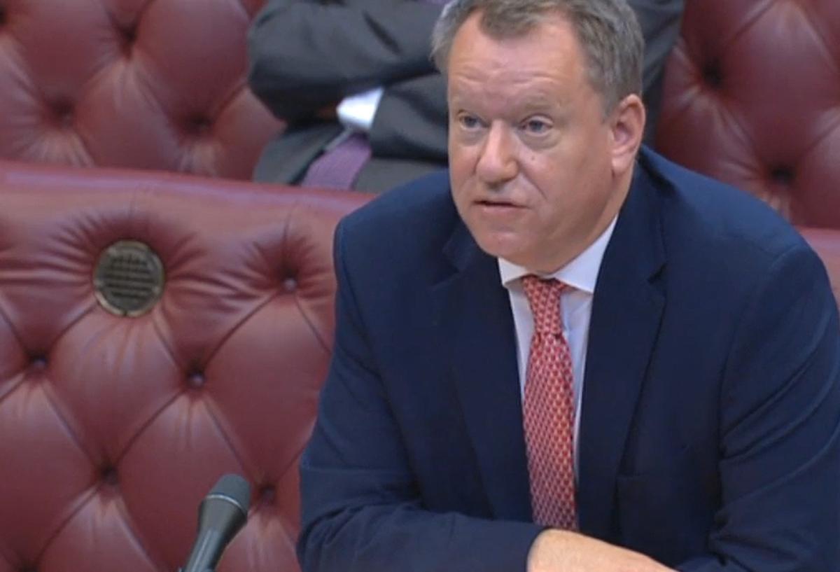 El negociador británico con la UE, David Frost, en su comparecencia ante la Cámara de los Comunes este miércoles.