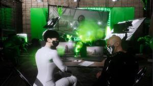 Los presentadores 'virtuales' de El Bloque TV entrevista a la artista Albany