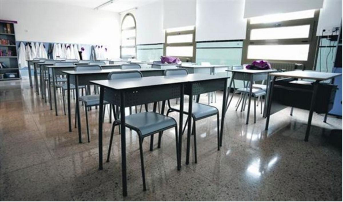 Un aula de un colegio concertado en Barcelona.