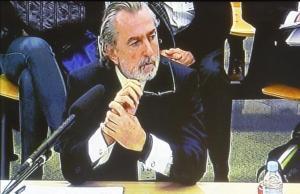 El cabecilla de Gürtel, Francisco Correa, declara en la Audiencia Nacional, el pasado 17 de octubre.