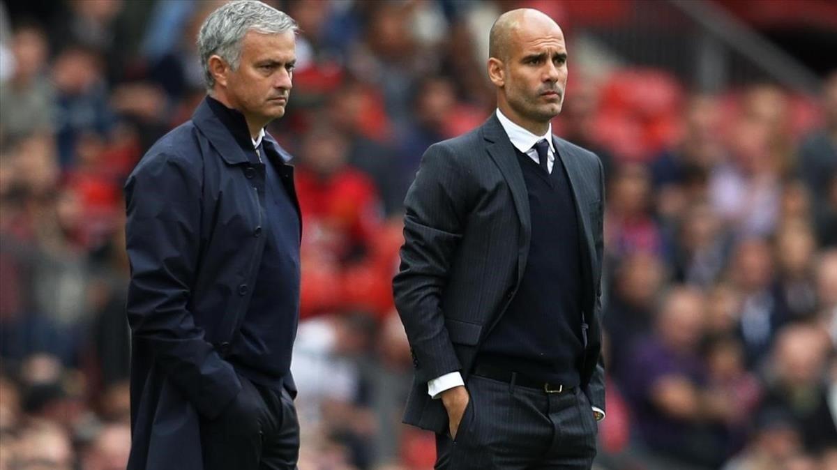 José Mourinho y Pep Guardiola, en una imagen de archivo