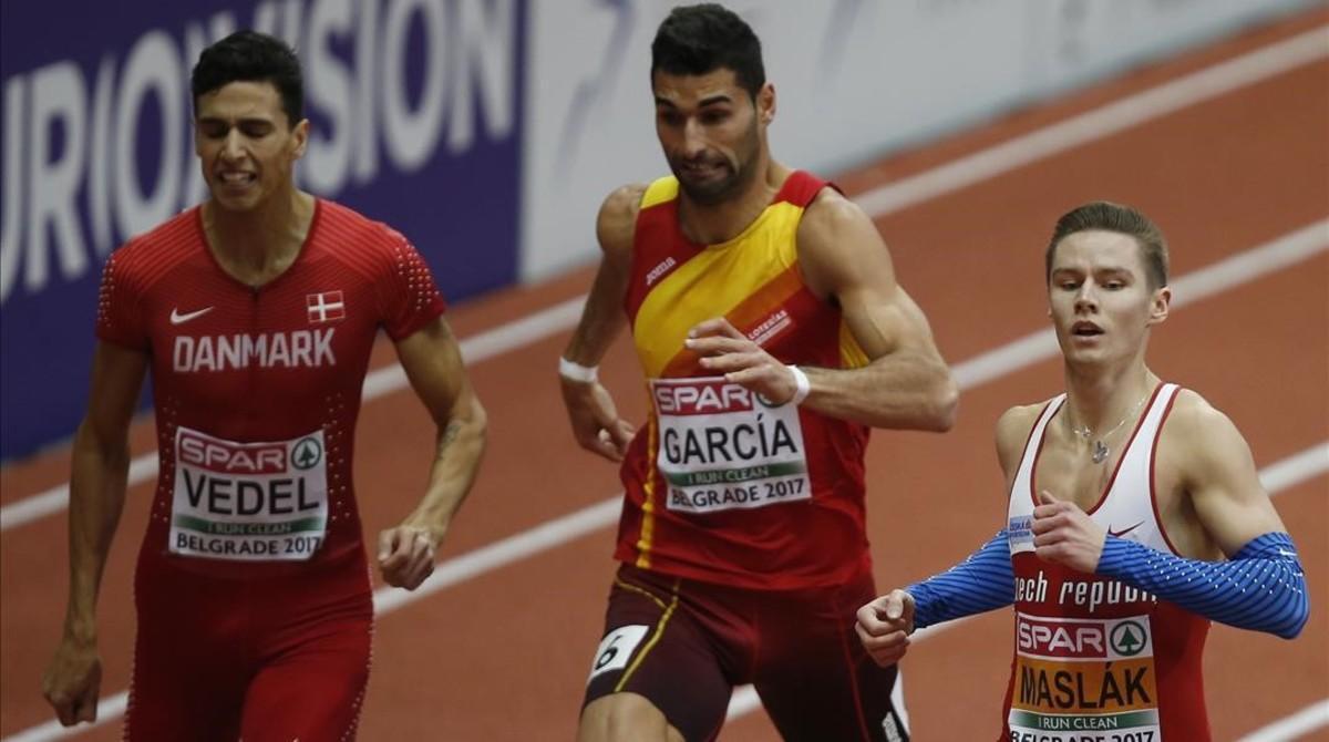 Samuel García, en la semifinal ganada por el checo Pavel Maslak.