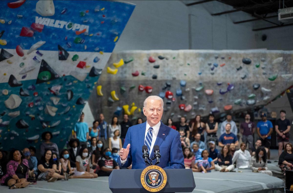El presidente de EEUU, Joe Biden, durante un acto en Alexandria, Virginia, este viernes.