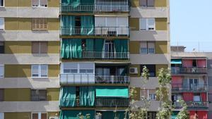 Un edificio de viviendas en un barrio de Barcelona.