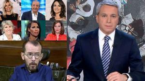 Numerosos periodistas televisivos muestran su apoyo a Vicente Vallés tras el ataque de Pablo Echenique.