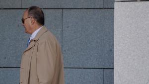 El ex gobernador del Banco de España, Luis María Linde, en la Audiencia Nacional por el 'caso Popular'.
