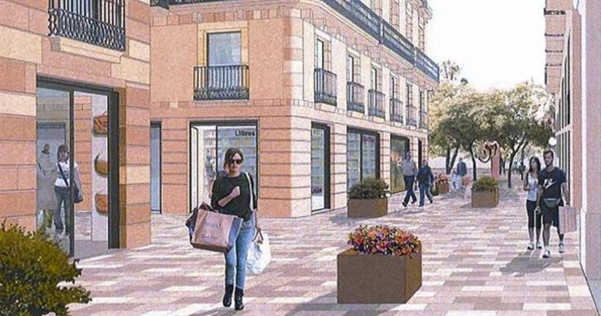 Un imagen virtual de lapropuesta de los propietarios para una de las calles.