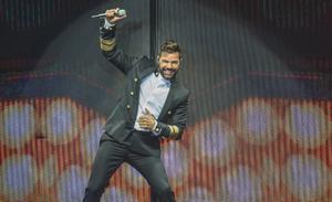 Ricky Martin, durante un concierto en Sant Feliu de Guíxols, en agosto del 2018.