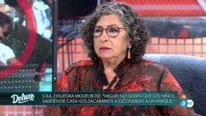"""Lola, madre de Nacho Palau sobre Miguel Bosé: """"Quería contar la verdad"""""""