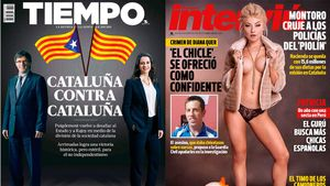 Dos de las últimas portadas de Tiempo e Interviú