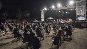 Uno de los conciertos de la Mercè de 2020, en el parque Güell.