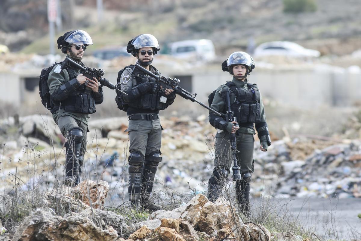 Soldados israelís en Cisjordania.