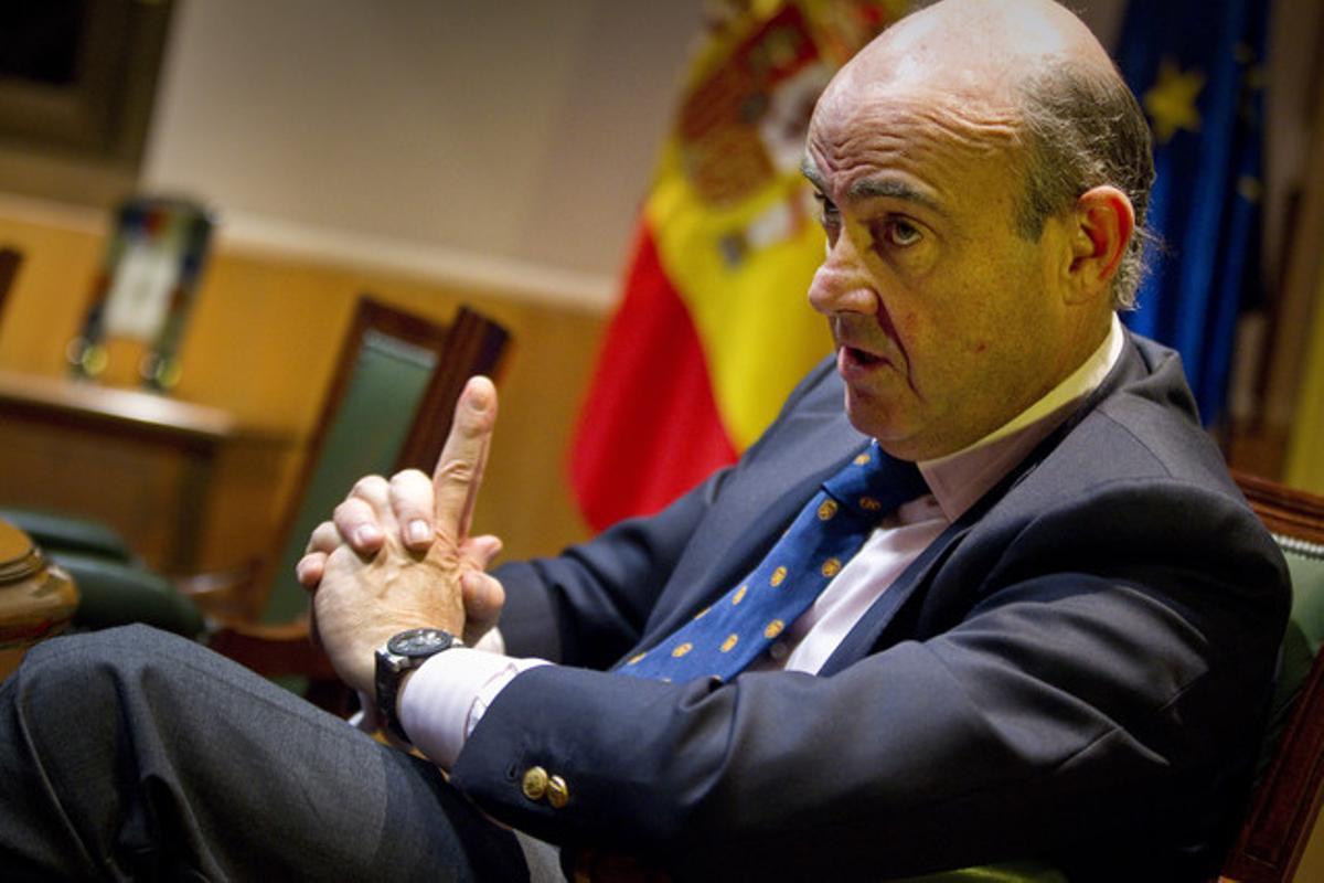 El ministro de Economía, Luis de Guindos, el pasado diciembre.
