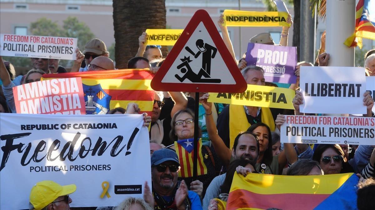 Protesta contra la violencia policial.