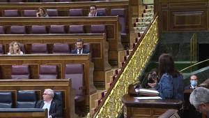 Durante su intervención en el pleno del Congreso que debate y vota la prórroga del estado de alarma, Lastra ha interrumpido su discurso para encararse con Echániz que, según fuentes parlamentarias, ha respondido desde su escaño: Te vas a enterar.