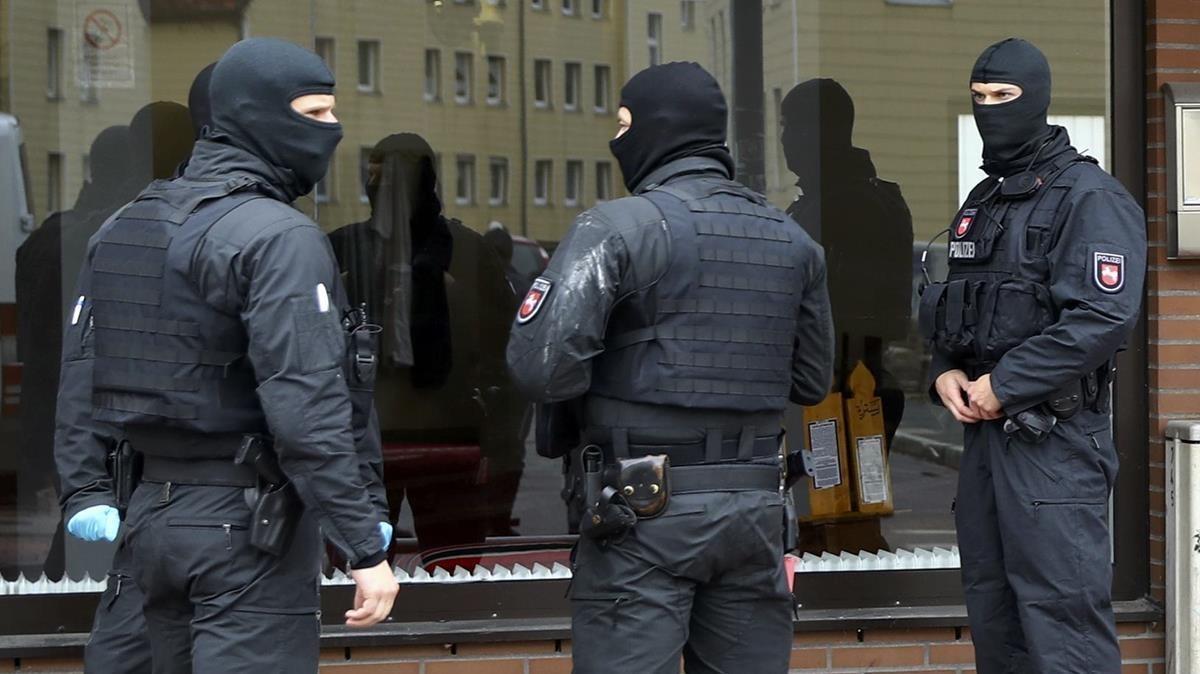 Agentes de la policía alemana, en una imagen de archivo.