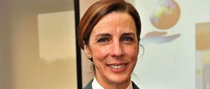 La teniente coronel Silvia Gil Cerdá –entonces comandante–, tras recibir un premio en 2018. | Guardia Civil