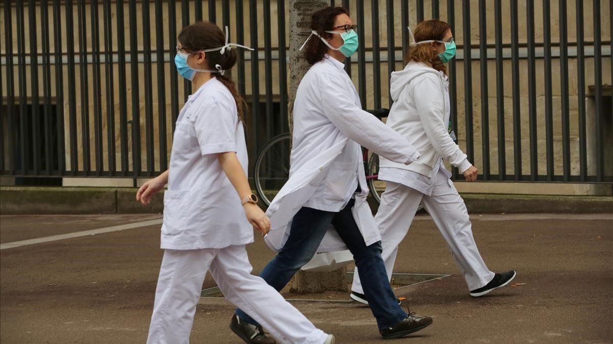 Personal sanitario del Hospital del Mar, Barcelona.