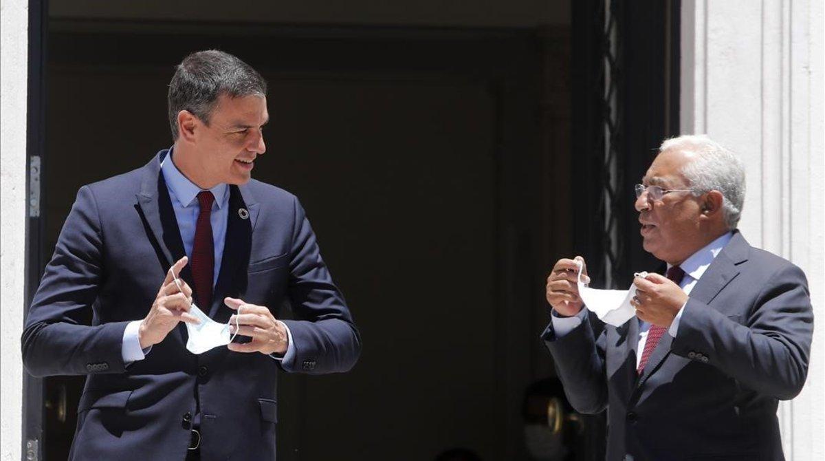 Sánchez y Costa, este lunes en Lisboa.