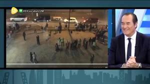 Imagen del programa de 13TV 'El cascabel' en el que su presentador, Antonio Jimenez,minusvalora el atentado en Manchester.